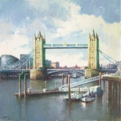 Tower Bridge by Helios -  sized 24x24 inches. Available from Whitewall Galleries